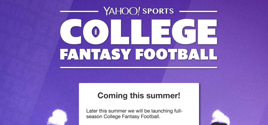 Yahoo! College Fantasy Football