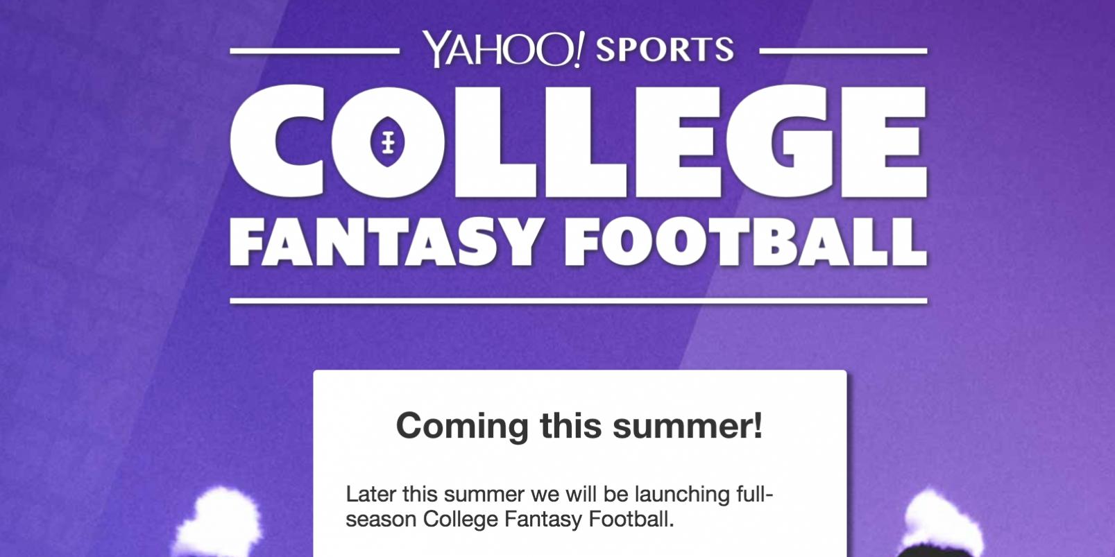 357e9062e7722 Yahoo! Launching College Fantasy Football Leagues
