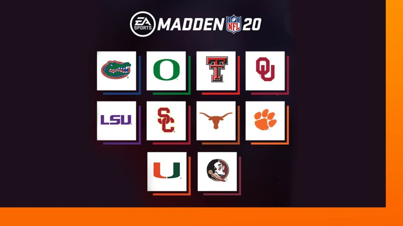College Football Teams in Madden20