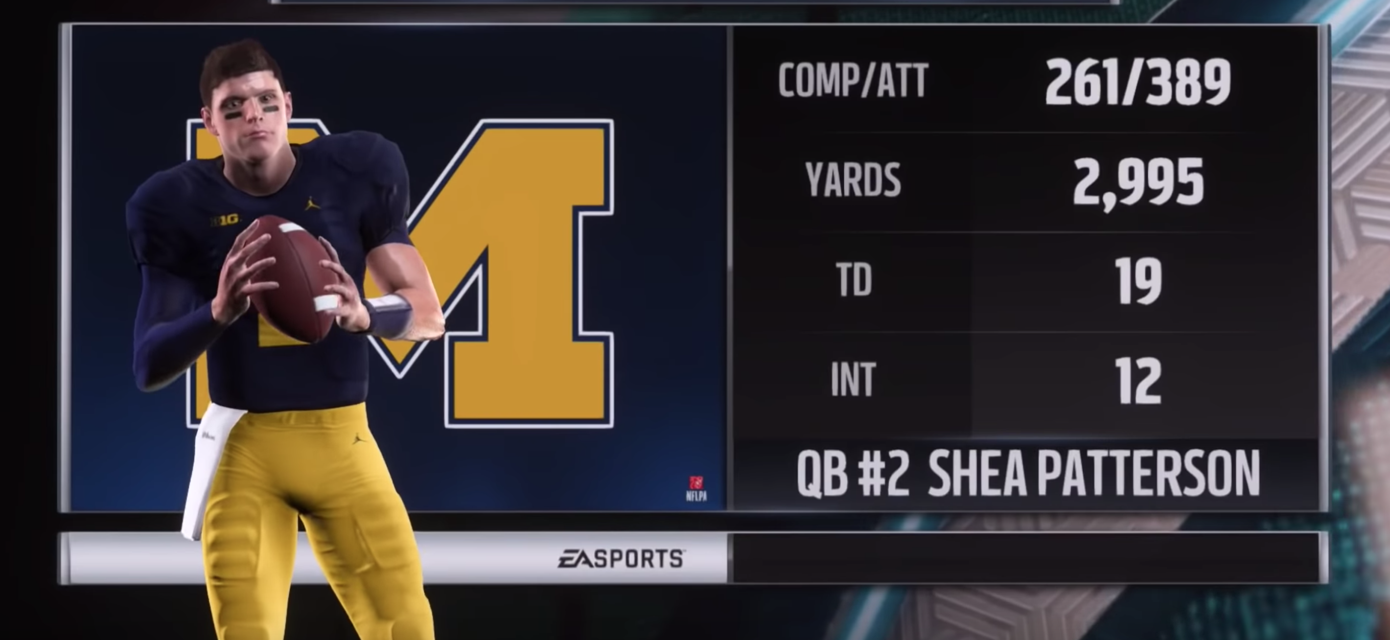Shea Patterson in NCAA Football Video Game Madden Mod