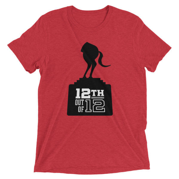 Red Fantasy Football Loser Shirt - Half Horse 12th out of 12