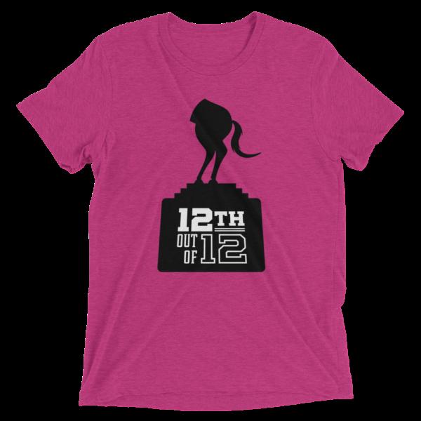 Pink Fantasy Football Loser Shirt - Half Horse 12th out of 12