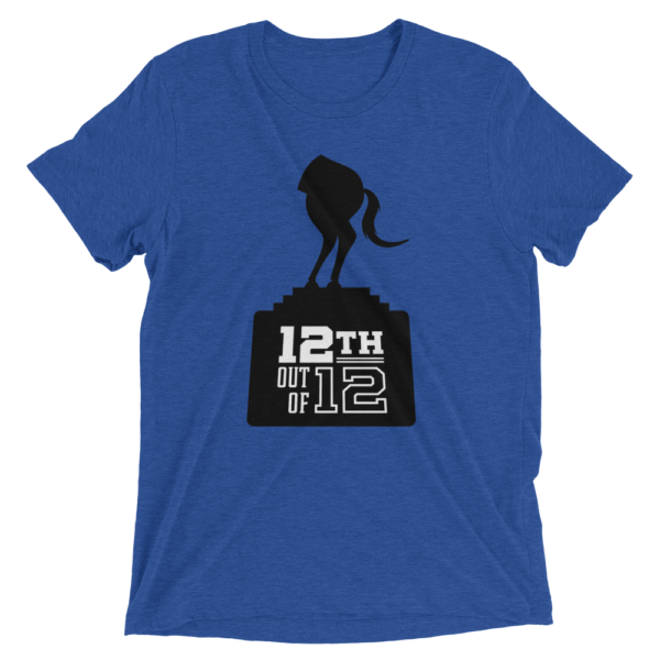 Blue Fantasy Football Loser Shirt - Half Horse 12th out of 12