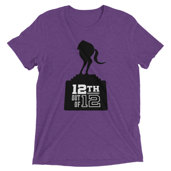 Purple Fantasy Football Loser Shirt - Half Horse 12th out of 12