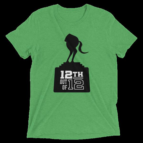 Green Fantasy Football Loser Shirt - Half Horse 12th out of 12
